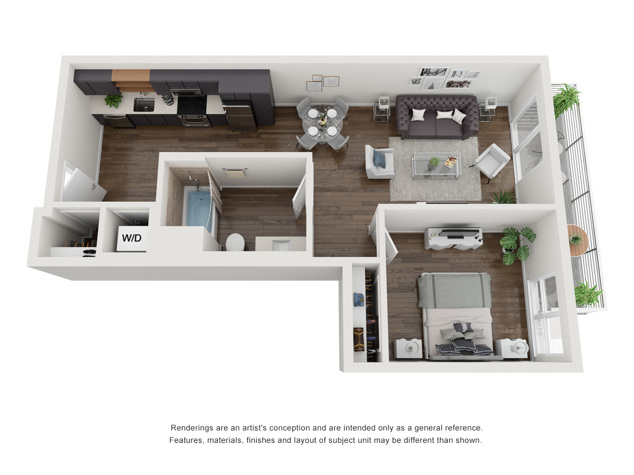 Plan 1B 1Bedroom | 1 Bath