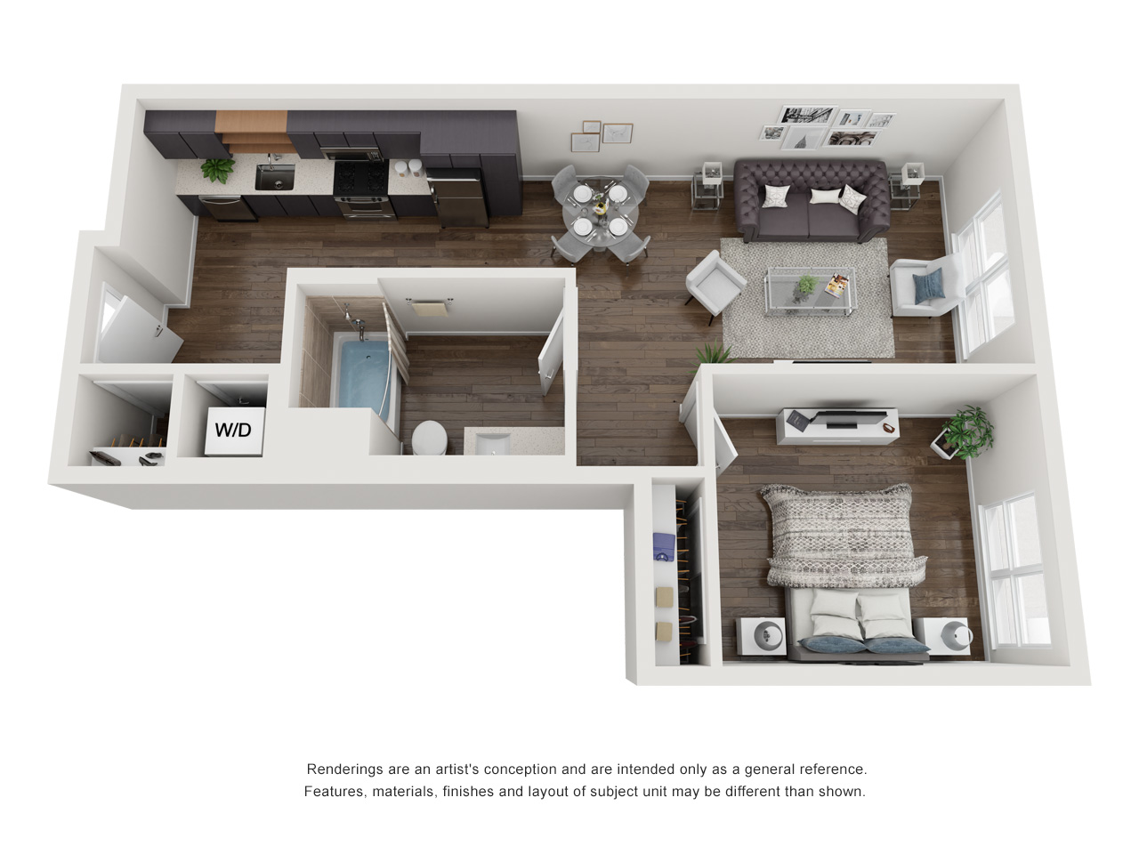 Plan 1B.1 1Bedroom | 1 Bath
