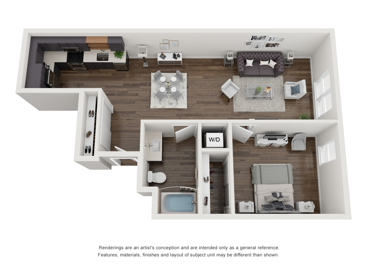 Plan 1B.2 1Bedroom | 1 Bath