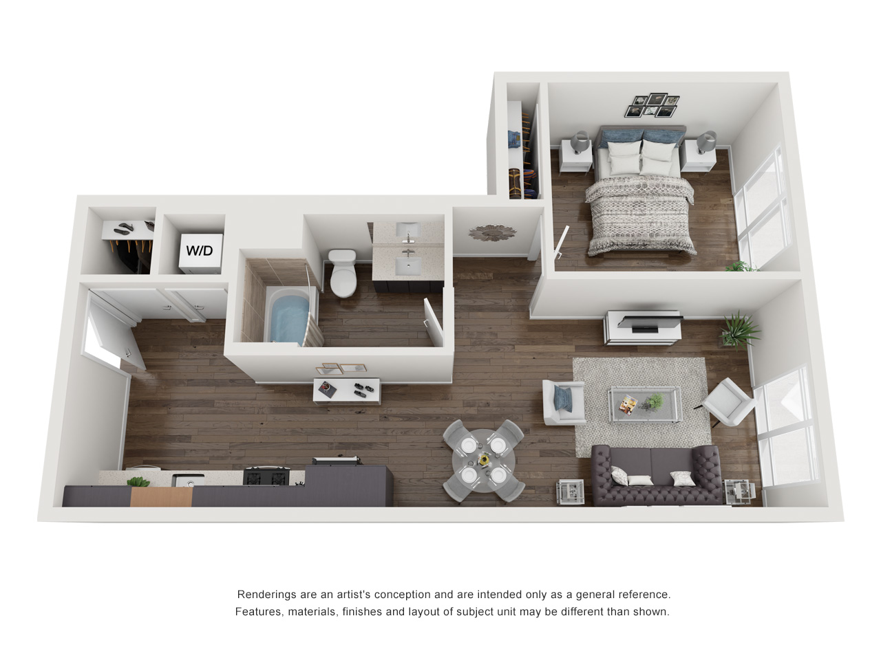 Plan 1B.3 1Bedroom | 1 Bath