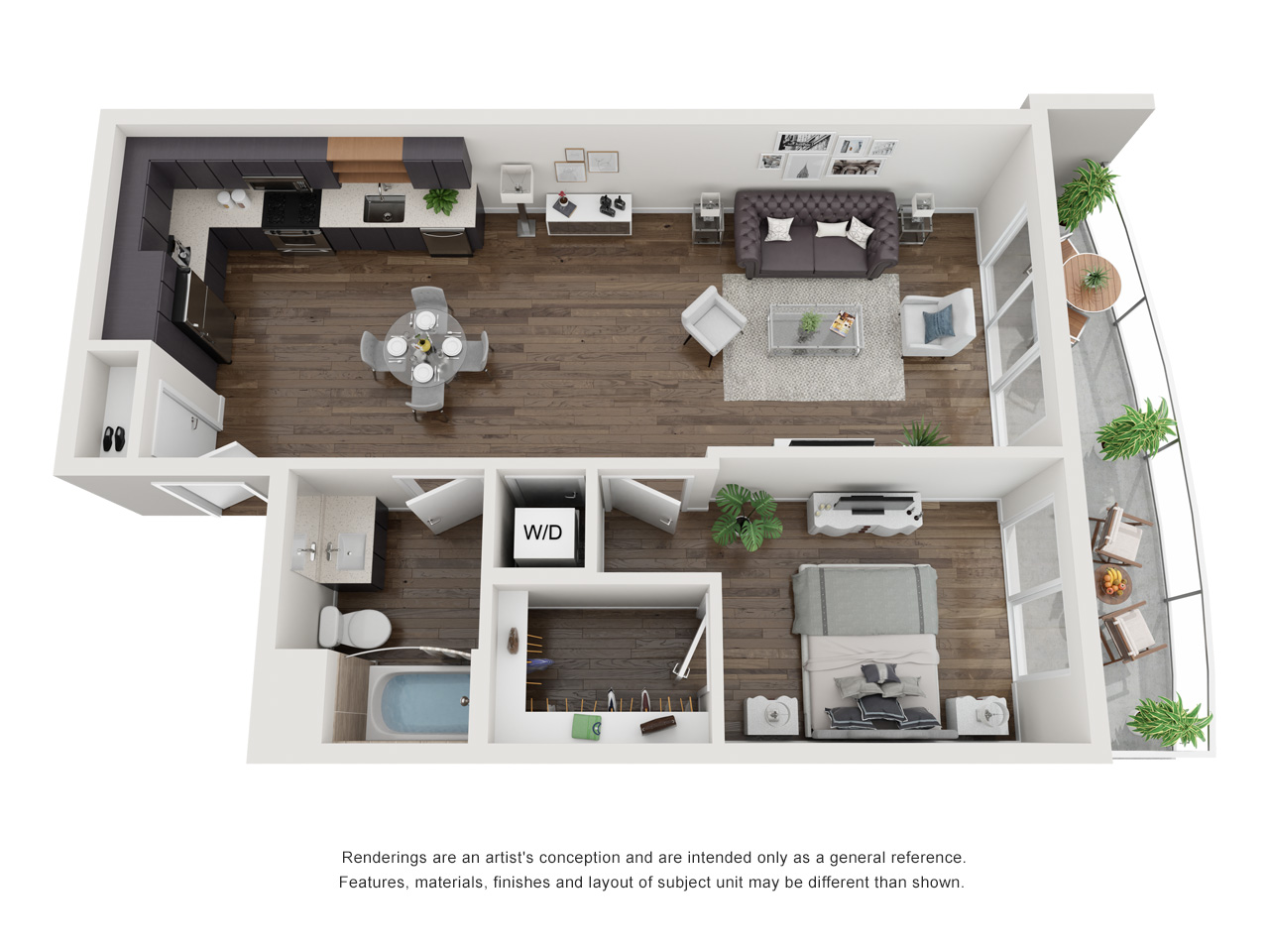 Plan 1C 1Bedroom | 1 Bath