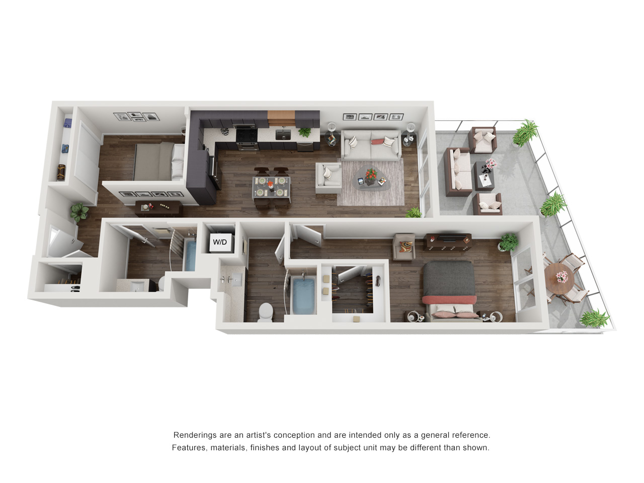 Plan 1E 2Bedroom | 2 Bath