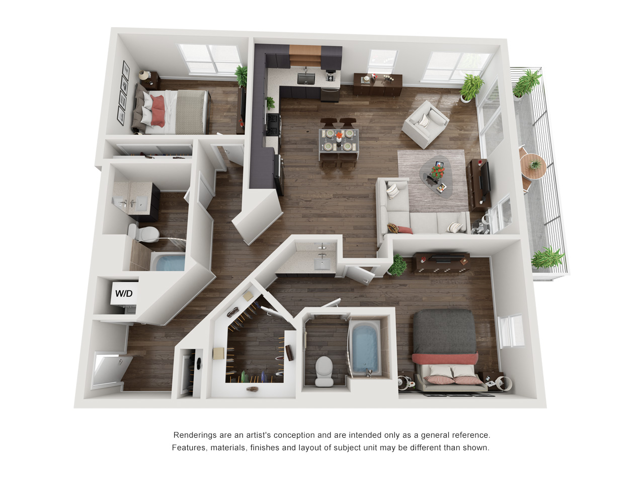 Plan 2A 2Bedroom | 2 Bath