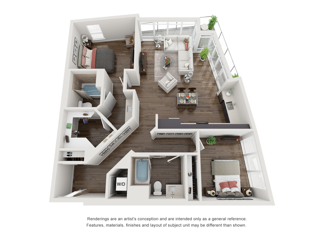 Plan 2B 2Bedroom | 2 Bath
