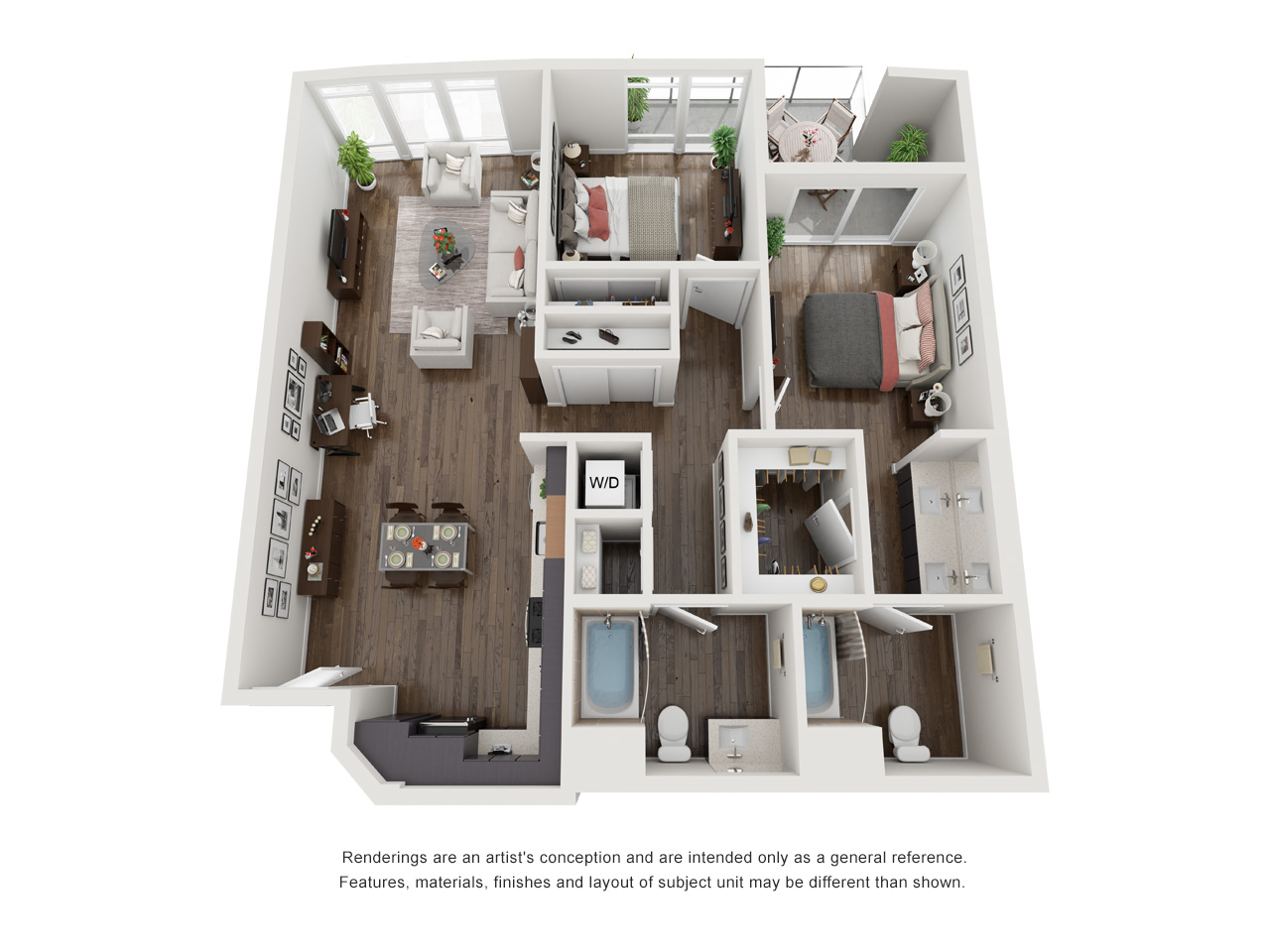 Plan 2C 2Bedroom | 2 Bath