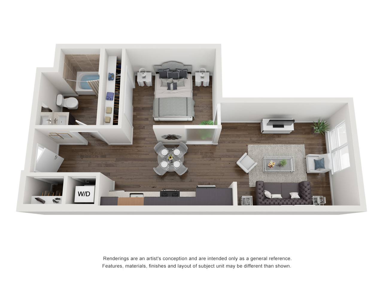 Plan S2.1 1 Bedroom | 1 Bath