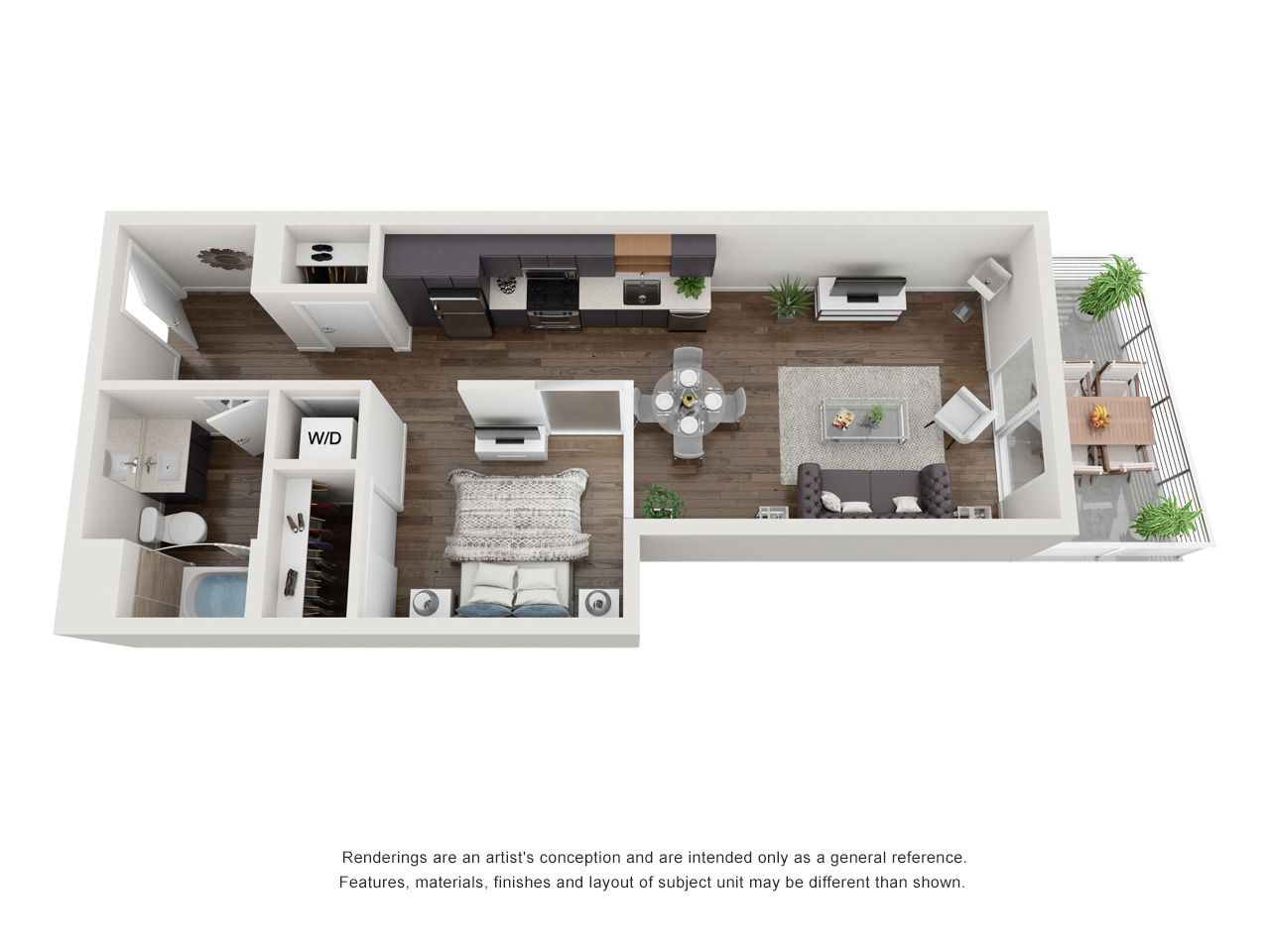 Plan S3 1Bedroom | 1 Bath