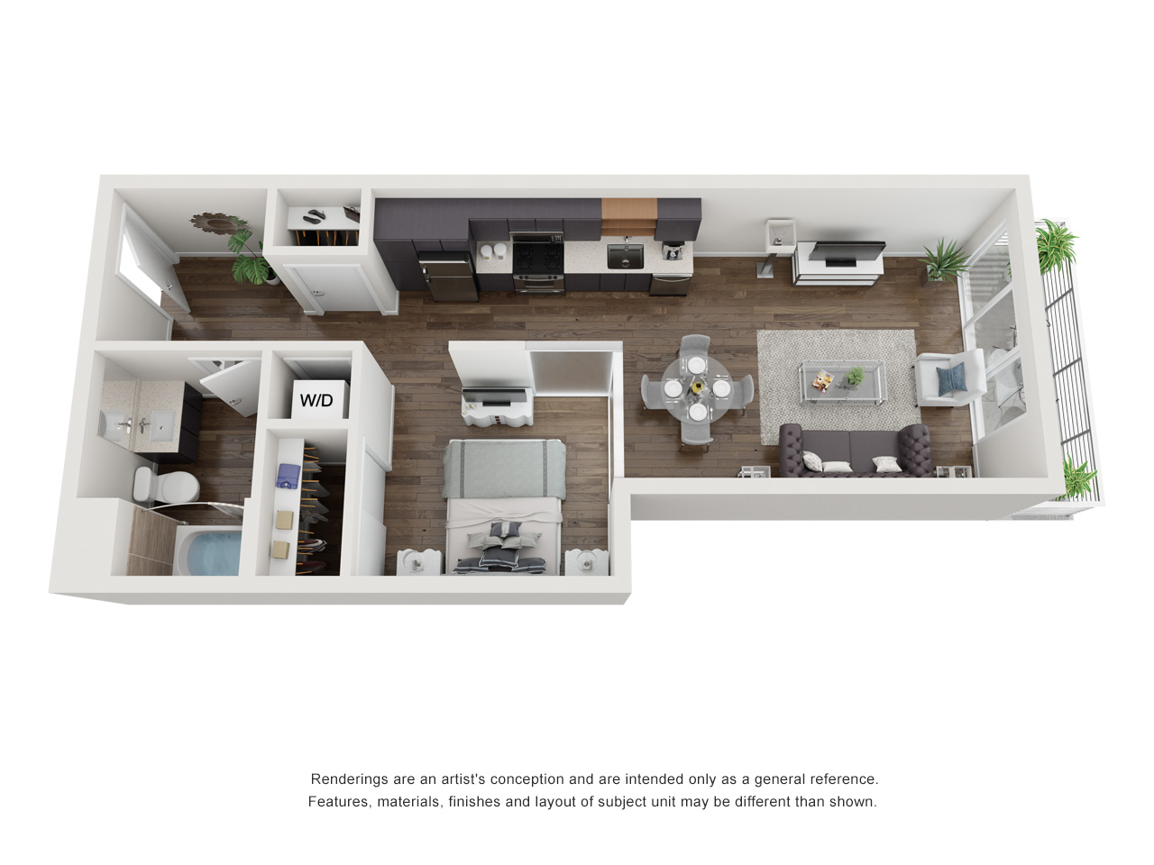 Plan S3.1 1Bedroom | 1 Bath