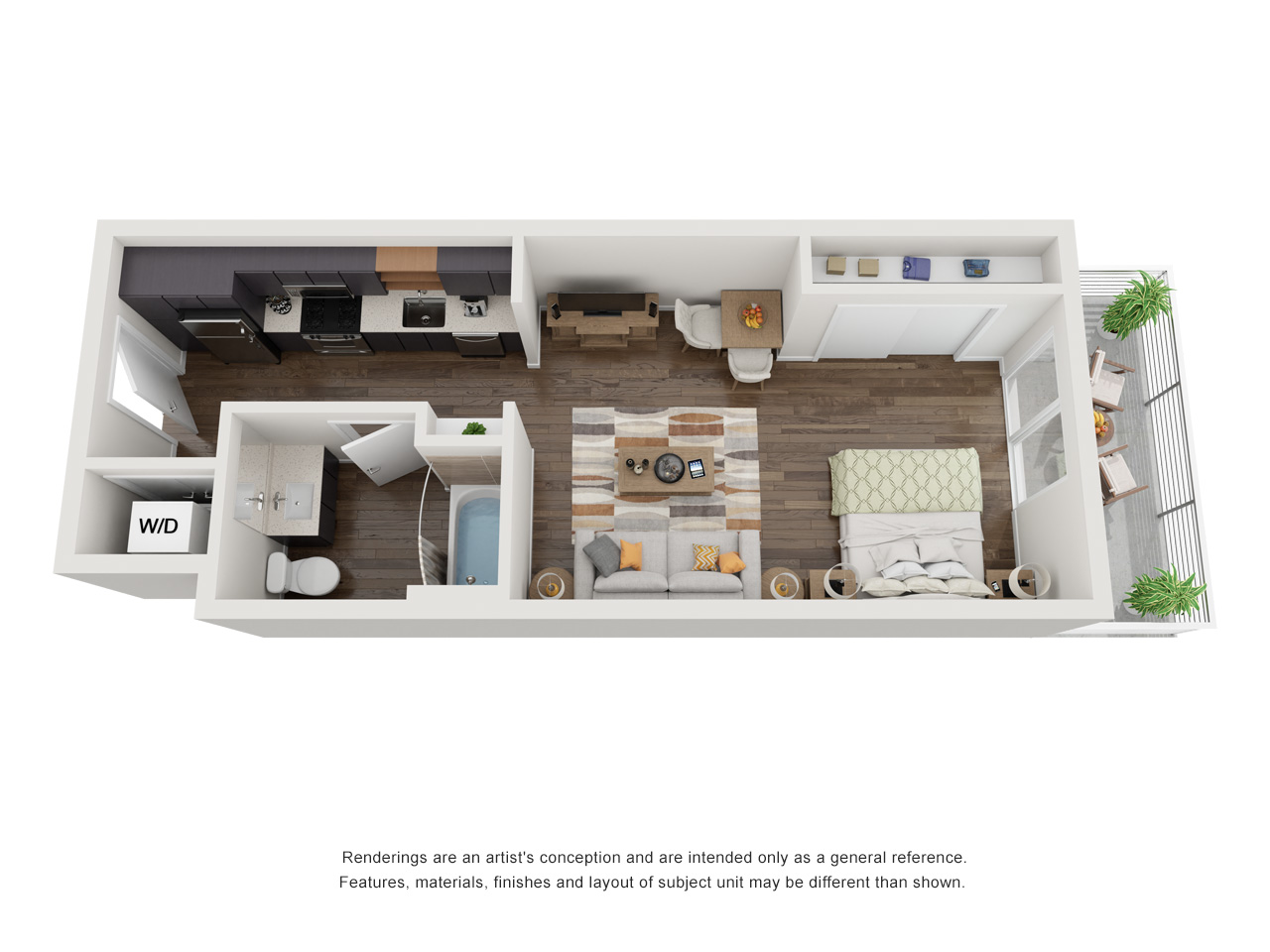 Plan S.1Studio | 1 Bath