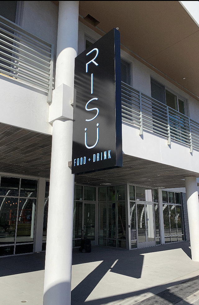Outside Risu wine bar in long beach at The Crest