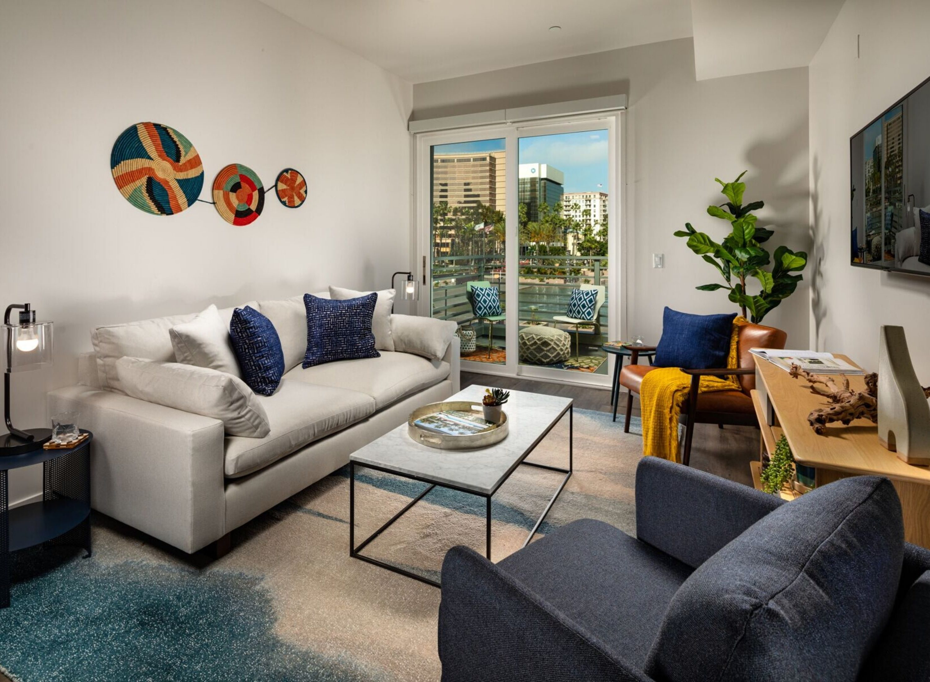 Living Room at the Crest Long Beach
